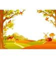 beautiful autumn landscape vector image vector image
