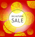 big autumn sale vector image