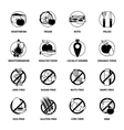 Black Diets Pictogram Set vector image