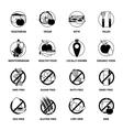 black diets pictograph set vector image
