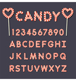 candy lollipop alphabet letters and numbers vector image vector image
