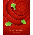 christmas tree badges vector image