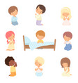 collection cute little children characters vector image vector image