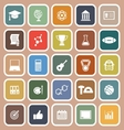 College flat icons on brown background vector image vector image