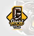 colorful logo emblem letter scratched claw vector image
