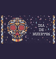 day dead mexican sugar skull web banner vector image vector image
