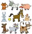 Farm animals doodle vector image