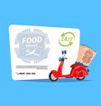 food delivery service template banner emblem vector image vector image