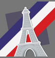 france culture card with flag and eiffel tower vector image