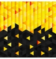 Geometric pattern from yellow orange triangle vector image vector image