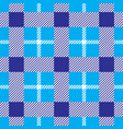 gingham checkered seamless pattern vector image vector image