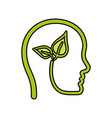 head with leaves icon vector image vector image