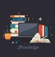 knowledge online education vector image vector image