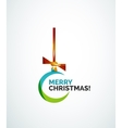 Merry Christmas card - abstract ball bauble vector image