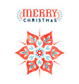 merry christmas folk red watercolor flower card vector image
