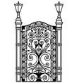 openwork metal door vector image