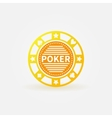 Poker chip gold icon vector image vector image