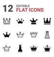 queen icons vector image vector image