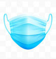 realistic protective medical face mask virus vector image