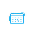 scheduling events linear icon concept scheduling vector image