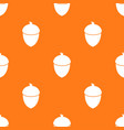 seamless repeating pattern with acorns vector image vector image