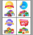 set of special price exclusive discount posters vector image vector image