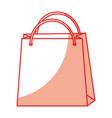 shadow shopping bag cartoon vector image
