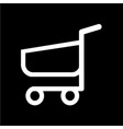 shopping cart trolley icon vector image