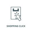shopping click line icon linear concept vector image vector image