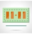 Simple scoreboard flat color design icon vector image vector image