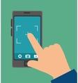 smartphone camera picture design graphic vector image