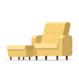 sofa chair with footstool vector image