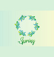 spring with green wreath leafs vector image vector image