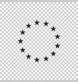 stars in circle icon on transparent background vector image