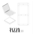stock box for pizza vector image vector image