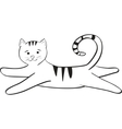 streaped kitty jumping and plays vector image