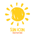 Sun burst logo icon vector image vector image