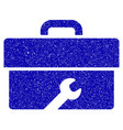 toolbox icon grunge watermark vector image