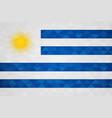 uruguay country flag uruguayan nation vector image