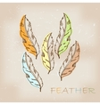Vintage hand drawn native tribal feather vector image vector image