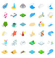water in beach icons set isometric style vector image vector image