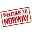 welcome to norway stamp vector image vector image