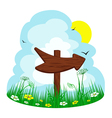 wooden arrow vector image vector image