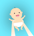carry baby vector image
