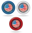 Flag of America Circle shape vector image