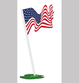 American flag pole vector image