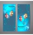 Set of two vertical banners for Ramadan Kareem vector image