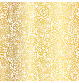 golden lace roses seamless repeat pattern vector image