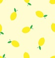 Watercolor seamless pattern with lemons on the vector image