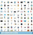 100 computer icons set cartoon style vector image vector image